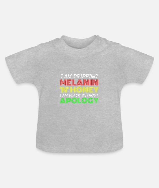 Civil Rights Movement Baby T-Shirts - black story African American colored slaves - Baby T-Shirt heather grey