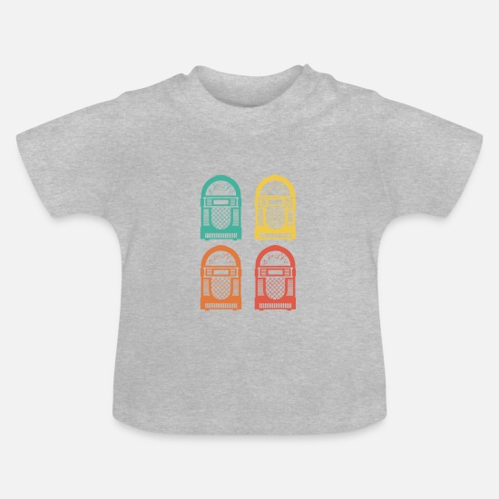 Jukebox  Babykleding - Jukebox - Baby T-shirt grijs gemêleerd