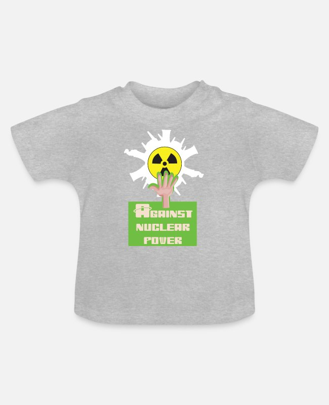 Chernobyl Baby T-Shirts - Against nuclear power and nuclear energy for nuclear phase-out - Baby T-Shirt heather grey