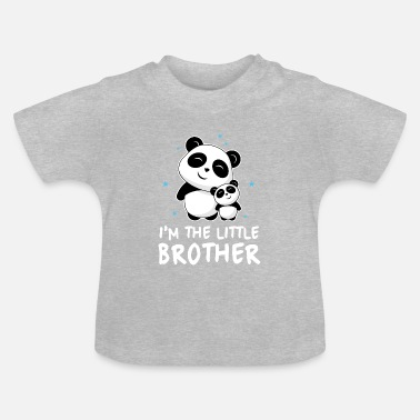 Panda I'm The Little Brother - Kleiner Panda Bruder - Baby T-Shirt