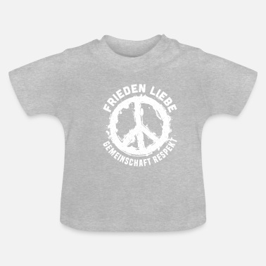 Community Peace Love Community Respect Peace - T-shirt Bébé