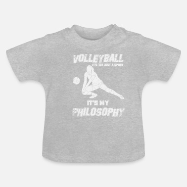 Drague Sport de drague de volleyball avec philosophie - T-shirt Bébé