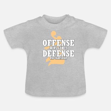 Established Het offensief wint games die de verdediging wint - Baby T-shirt
