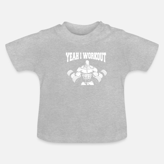 Bulk Up Baby Clothes - funny fitness tshirt cool fitness gift - Baby T-Shirt heather grey