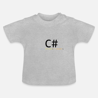 Awesome C# is awesome - T-shirt Bébé
