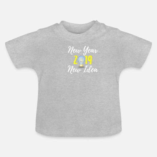 Gift Idea Baby Clothes - 2019 New Year New Idea - Baby T-Shirt heather grey