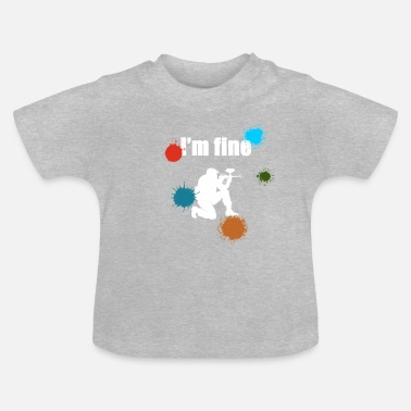 Airsoft I'm Fine Paintball Airsoft Airsoft Woodsball - Baby T-shirt