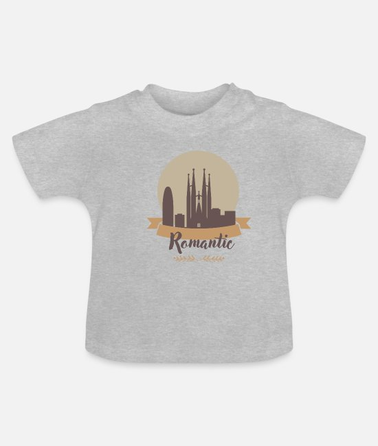 Gran Canaria Baby T-Shirts - Romantic Barcelona - Baby T-Shirt heather grey