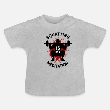 Squat T-shirt de méditation Squat Deadlift - T-shirt Bébé