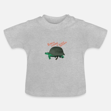 Change Soldier turtle helmet respect environment gift - Baby T-Shirt