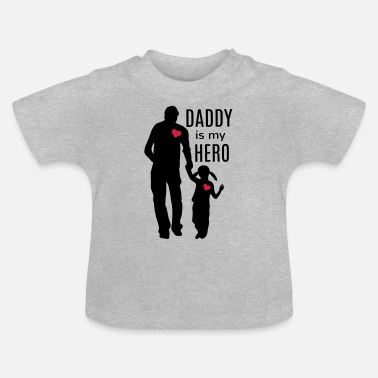 Lille Daddy er min helt Far Datter Daddy Daughters Love - Baby T-shirt