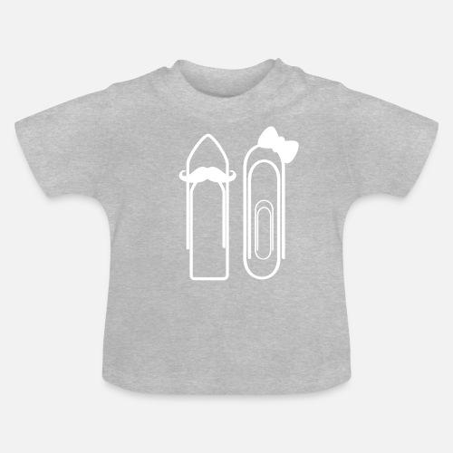 Werdende Eltern Schwanger Buroklammer Madchen Baby T Shirt