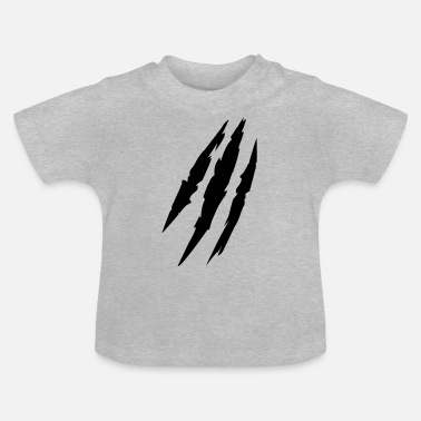 Bête animal claw marks marques griffes - T-shirt Bébé