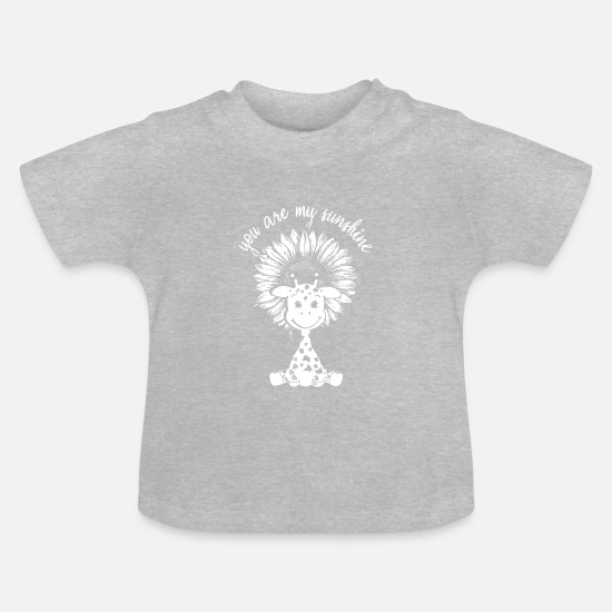 Birthday Baby Clothes - sunshine saying animal cute - Baby T-Shirt heather grey