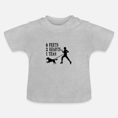Canicross Hovawart jogging dog dog saying sport - Baby T-Shirt