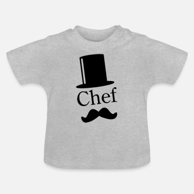 Like A Sir Like a Chef / Like a Sir / Mustache / Moustache 1c - T-shirt Bébé