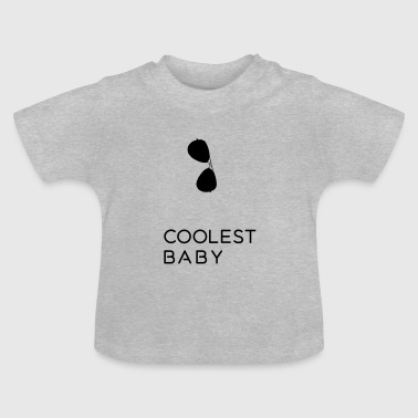 Sæt Coolest Baby - father and son far og søn - Baby T-shirt