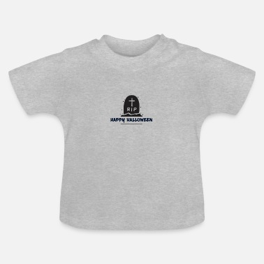 Fred Glad Halloween og hvile i fred - Baby T-shirt