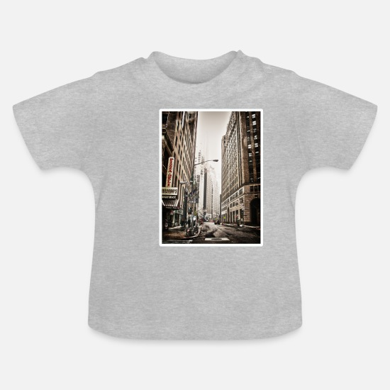 Wallstreet Baby Clothes - NYC - Baby T-Shirt heather grey