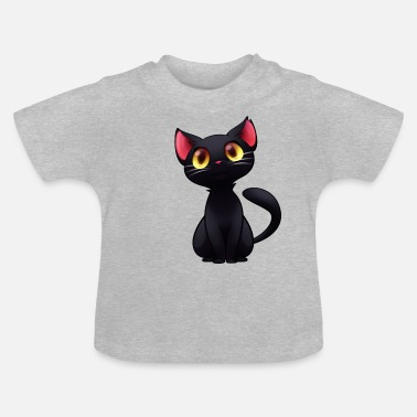 Black Black Cat - black cat - Baby T-Shirt