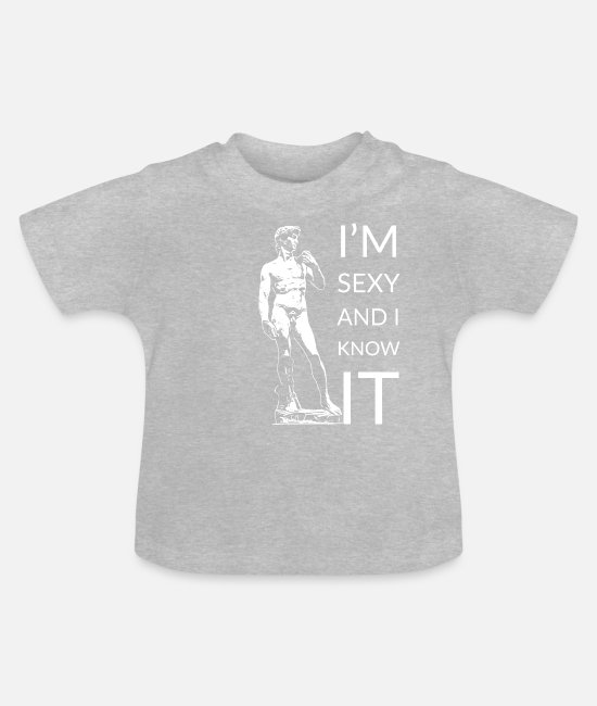 Art Baby T-Shirts - Sexy - Baby T-Shirt heather grey
