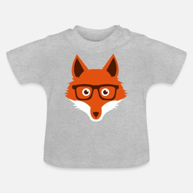 Sweet Funny hipster fox with nerd glasses - T-shirt Bébé