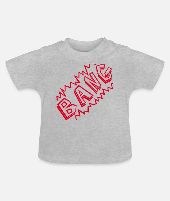 Kaboom Baby T-Shirts - fearfully - Baby T-Shirt heather grey