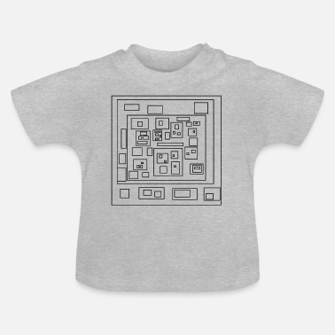Rectangle rectangles - T-shirt Bébé