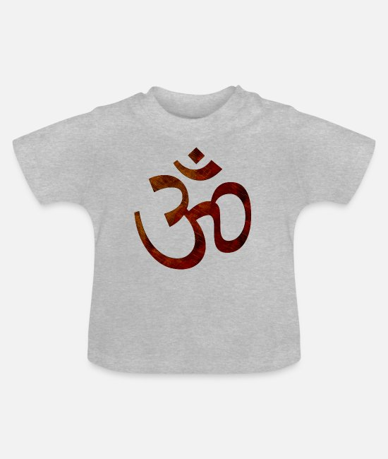Mantra Baby T-Shirts - om goa hindi - Baby T-Shirt heather grey