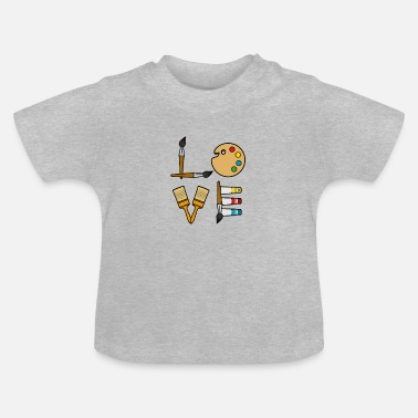 Paint Brush Brush paints painting artist gift - Baby T-Shirt