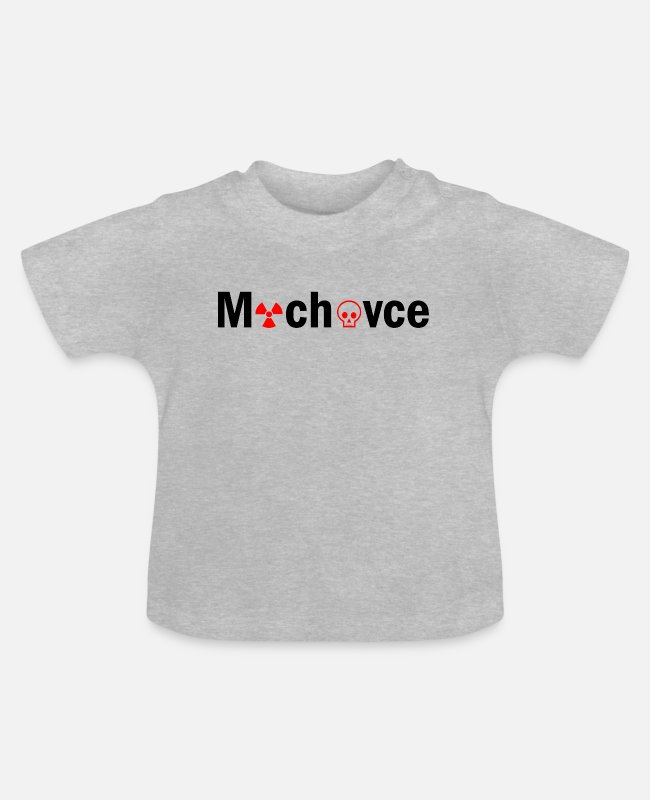 Atomic Bomb Baby T-Shirts - Mochovce nuclear power plant anti demonstration gift - Baby T-Shirt heather grey