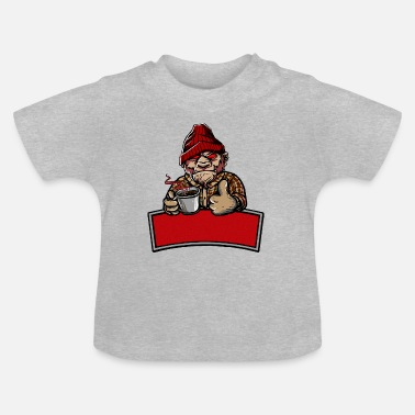Cafeïne aap - Baby T-shirt