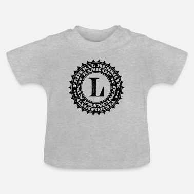 Federal Reserve United States one dollar bill fed seal L - Baby T-Shirt