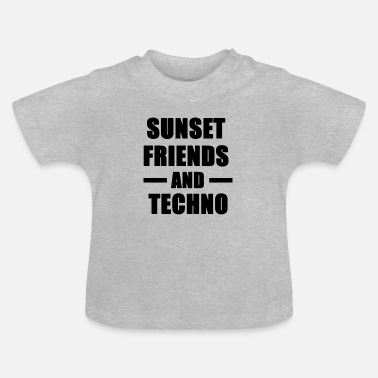 Detroit Sunset Friends en Techno - Baby T-shirt