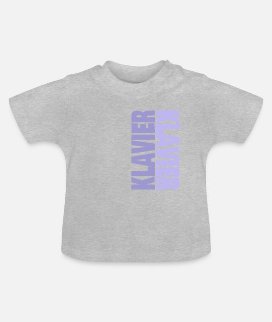Piano Baby T-Shirts - Piano musical instrument instrument music - Baby T-Shirt heather grey
