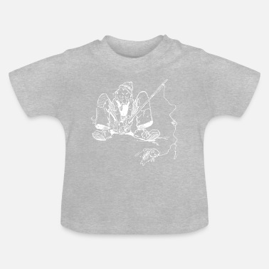 Nice Underwear Old fisherman with fishing rod and fish - Baby T-Shirt