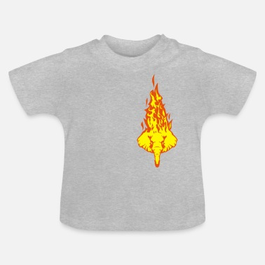 Fireworks elephant head in flame fire flame 310 - Baby T-Shirt