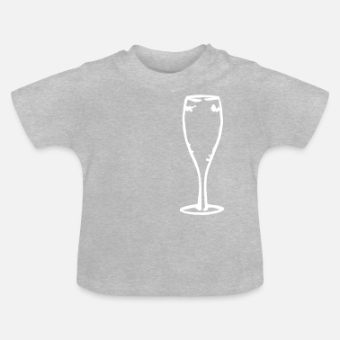 Champagne champagne glass - Baby T-Shirt