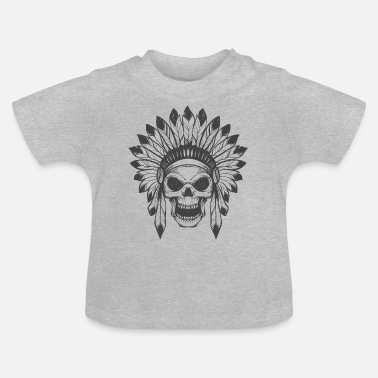 Skull Indian's skull - T-shirt Bébé