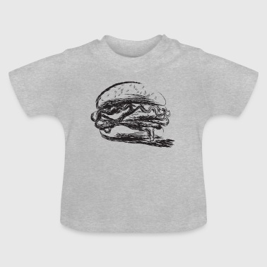 Appetizers Black stylized design hamburger - Baby T-Shirt
