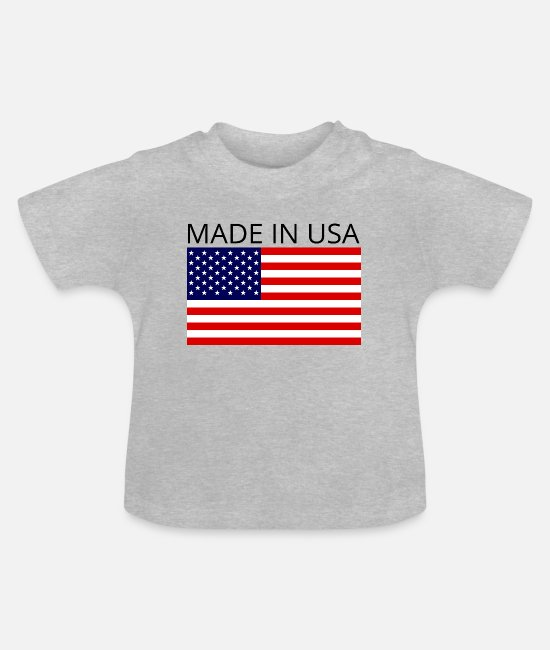 Pickup Line Baby Clothes - Made In USA - Baby T-Shirt heather grey