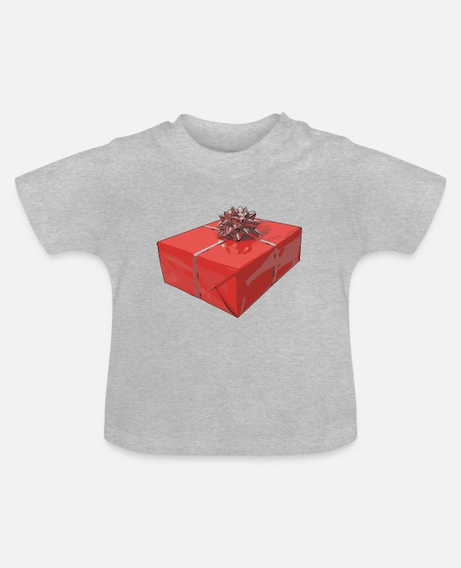 Pop Art Baby T-Shirts - Christmas present Popart - Baby T-Shirt heather grey