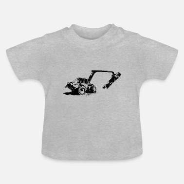 Forestry tractor in action (black) - Baby T-Shirt