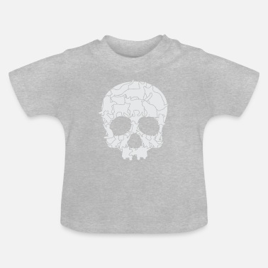 Cat CATS DEAD HEAD T-SHIRT FUNNY GIFT KIDS - Baby T-Shirt