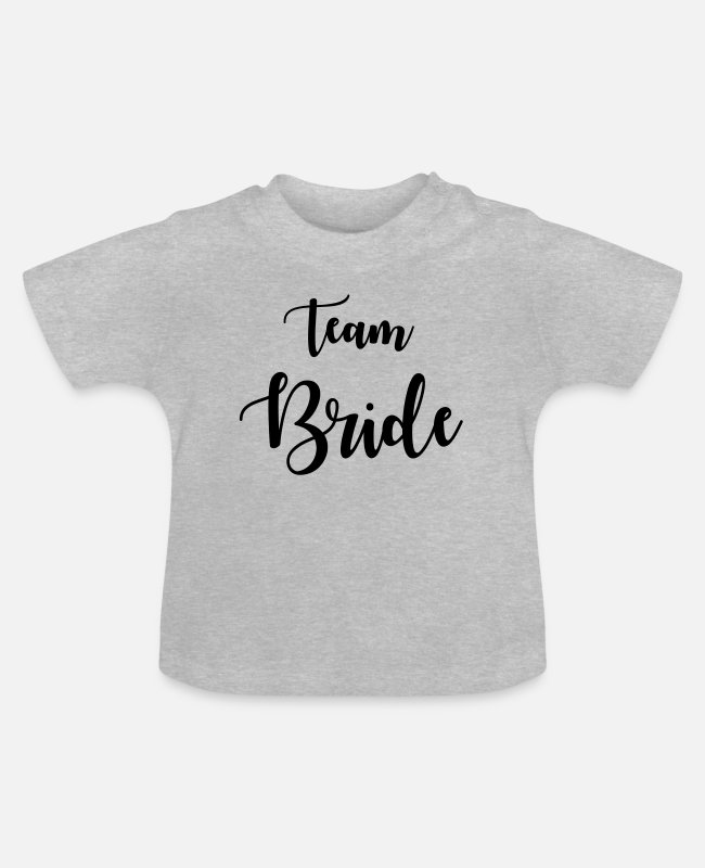 Trauzeuge Baby T-Shirts - Team Bride - Baby T-Shirt Grau meliert