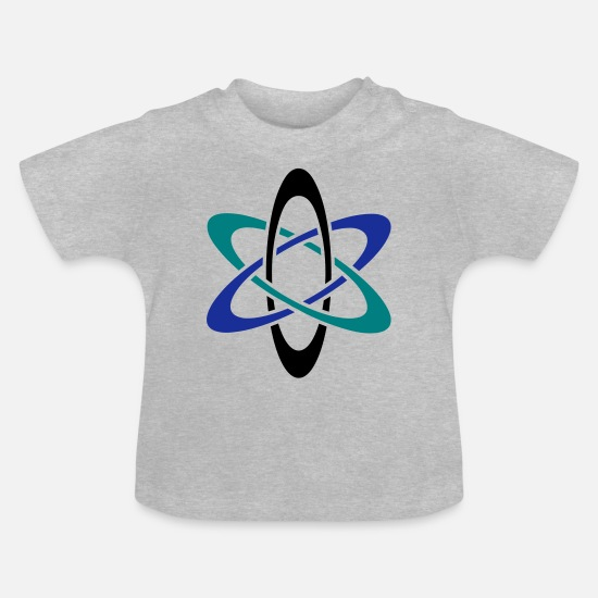 Geek Baby Clothes - Atom - Baby T-Shirt heather grey