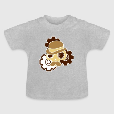 Fantasy Digitalstoff-Schädel: Sir Steampunk - Baby T-Shirt