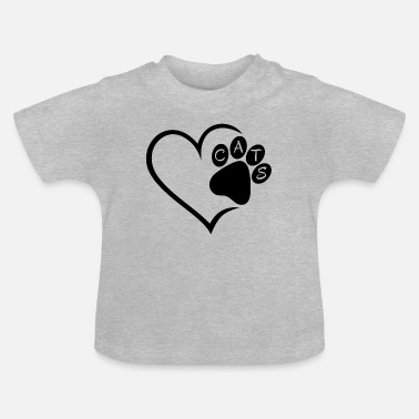 Pet Cat Cats Heart Paw Pet Animals Cat Cats sw - Baby T-Shirt