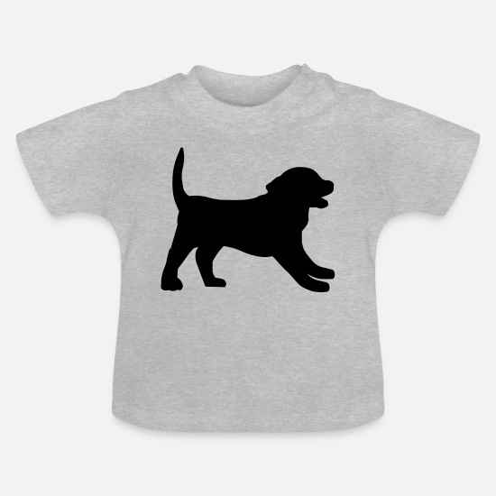 Animal De Compagnie Vêtements Bébé - Chienchien - T-shirt Bébé gris chiné