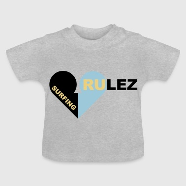 surfing rulez 3-colours - Baby T-Shirt